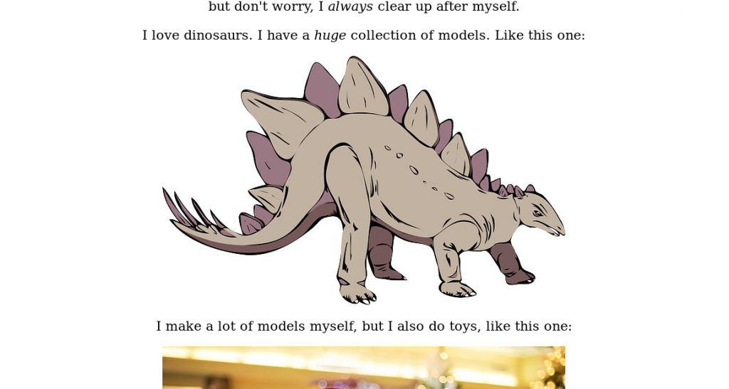 Your friendly neighbourhood Stegosaurus