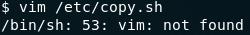 Vim not installed