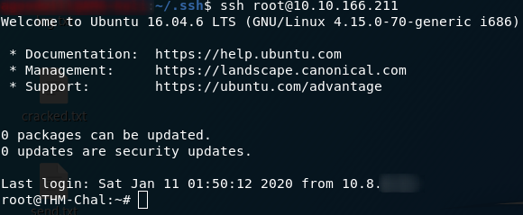 Got Root with SSH