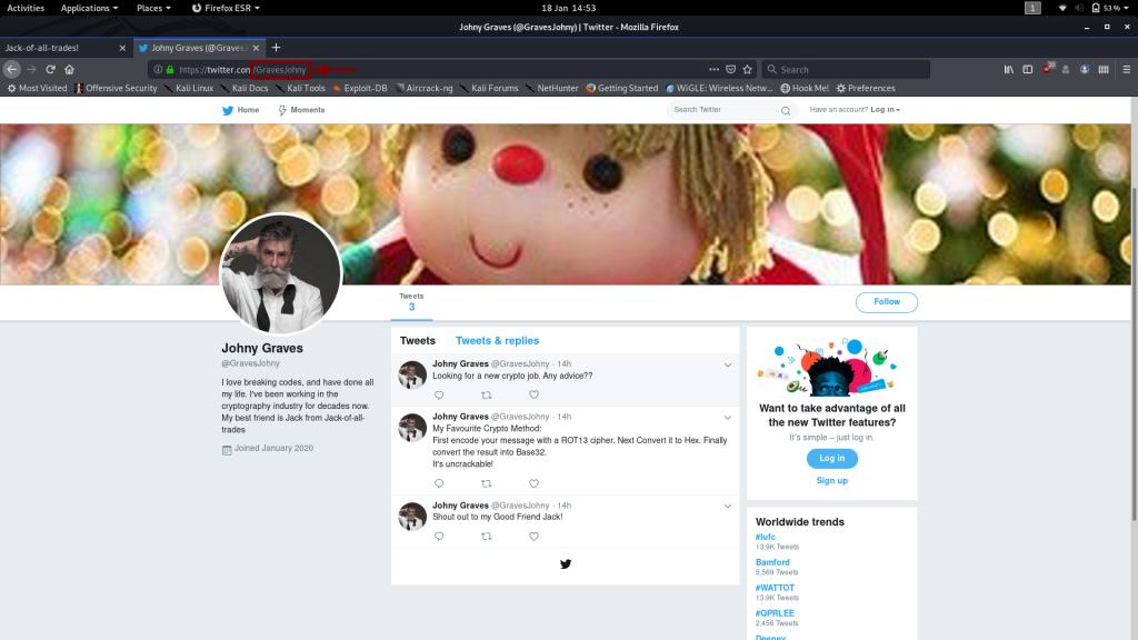 Johny Graves' Twitter