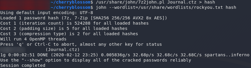 Got a hash of the file