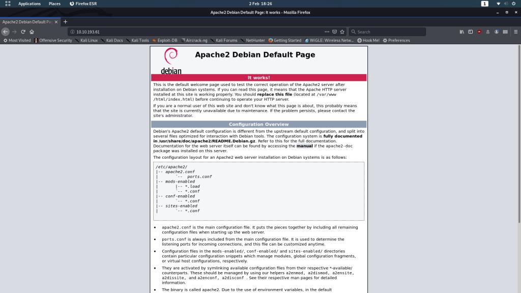 Apache2 Default Landing Page
