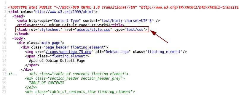 Inline stylesheet missing