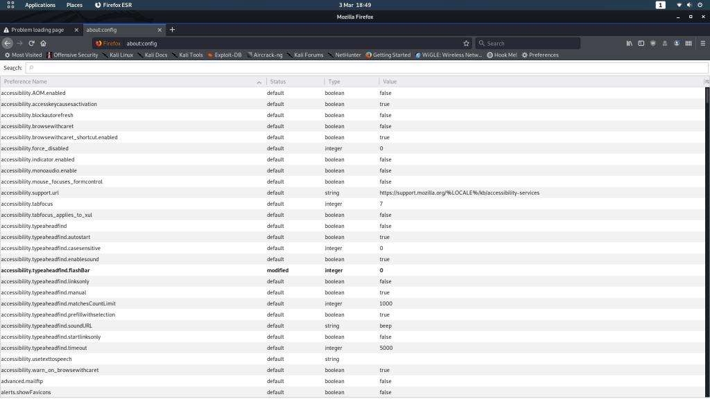 Firefox configuration file