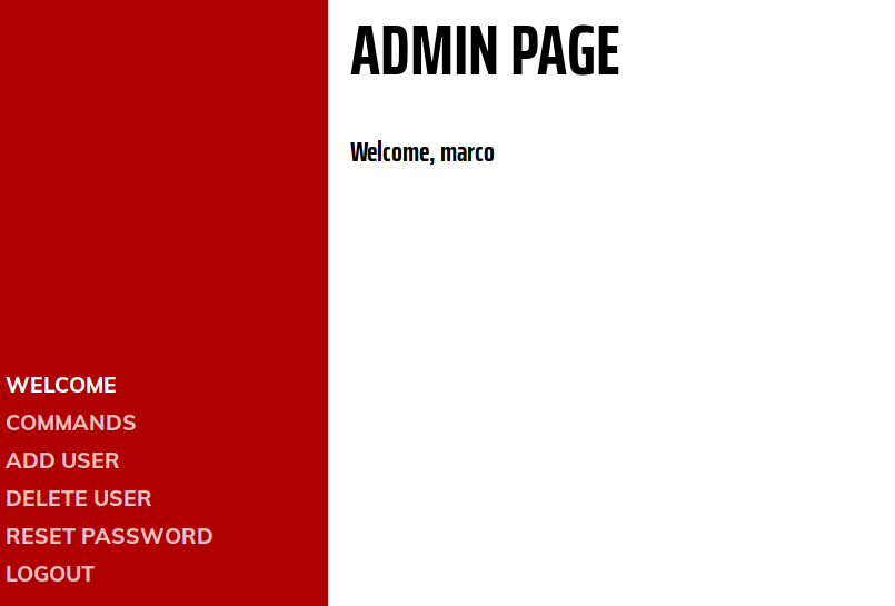 The admin console for Marco's blog. Has a list of useless options down the side.