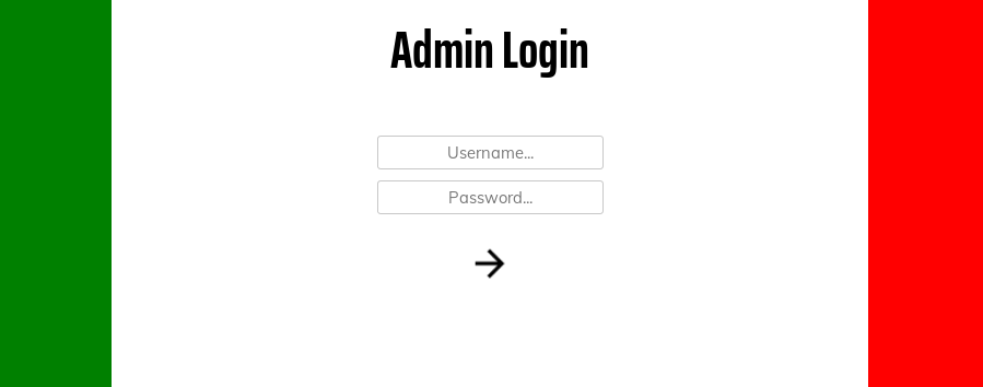 Screenshot of the site login page: /login.php