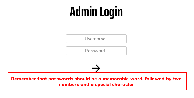 Looking at the response message from a failed login