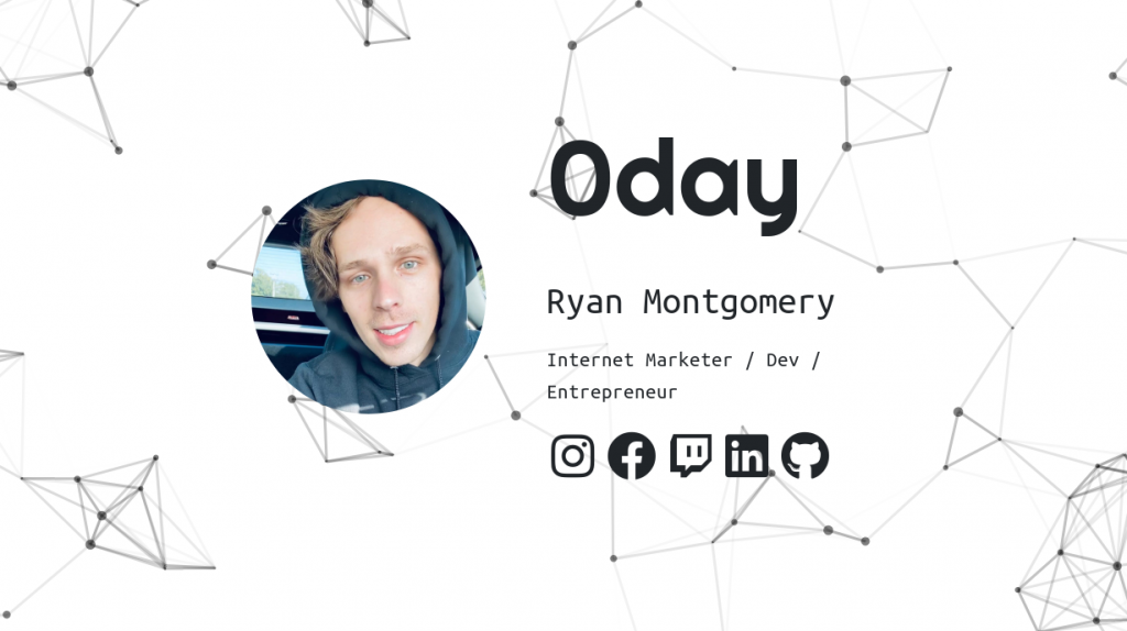 Screenshot of 0day's homepage