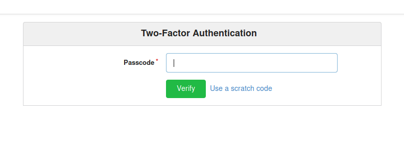 Screenshot showing that Dylan has two factor authentification turned on