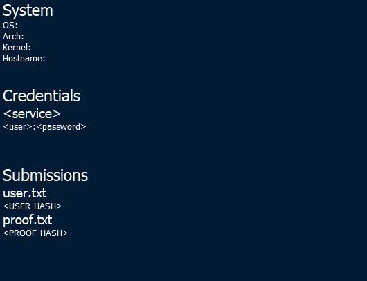 Screenshot showing the overview node